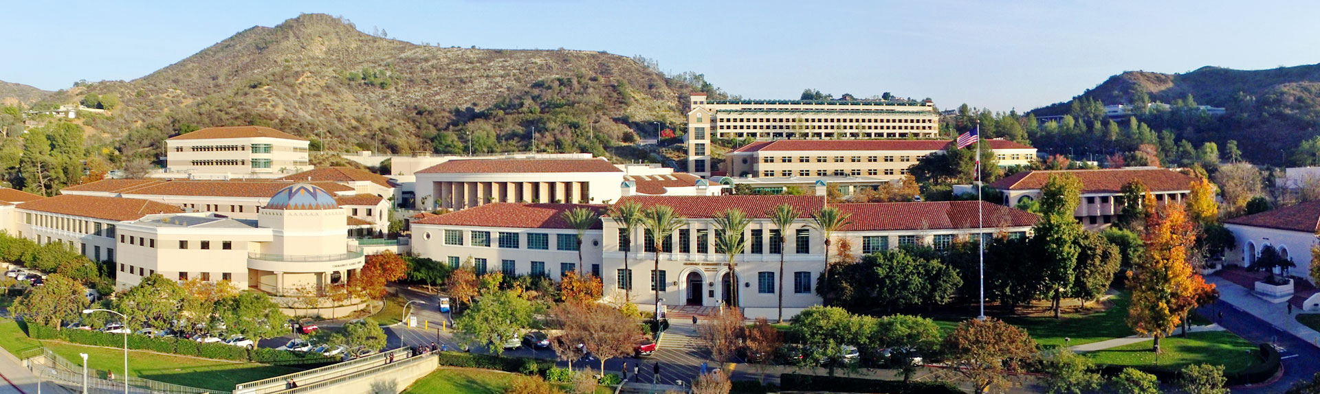 Administration building view from Verdugo road