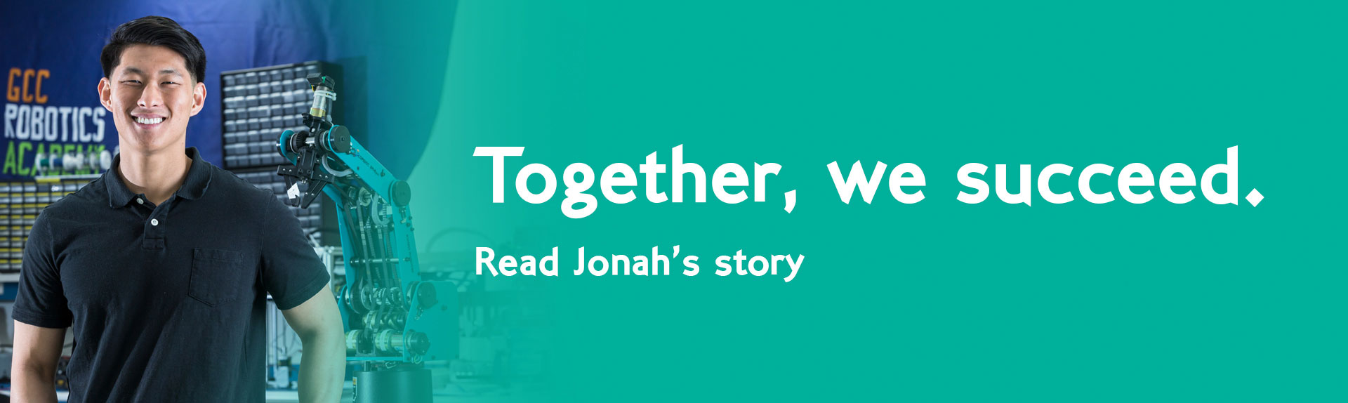 Together, we succeed. Read Jonah's story