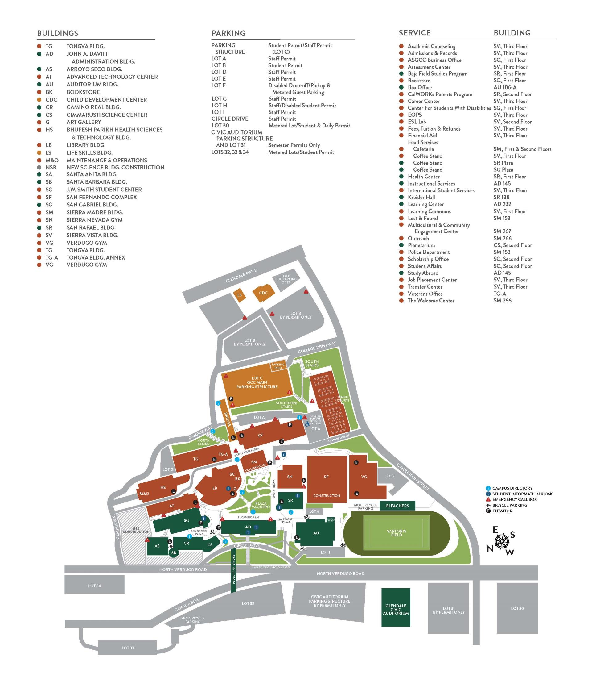 Gccaz Campus Map.Glendale Community College Map World Map 07