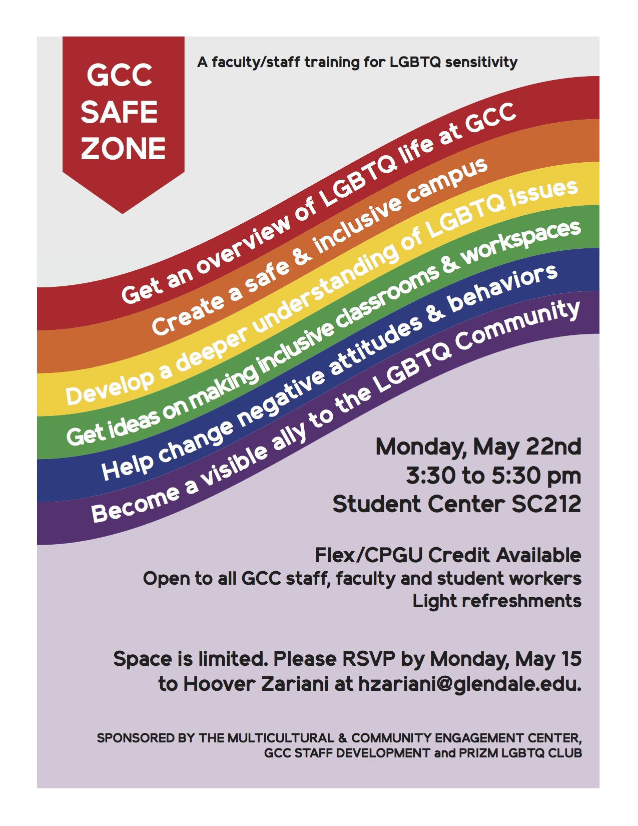 Gcc Calendar.Safe Zone Training Gcc Calendar All Events Glendale Community