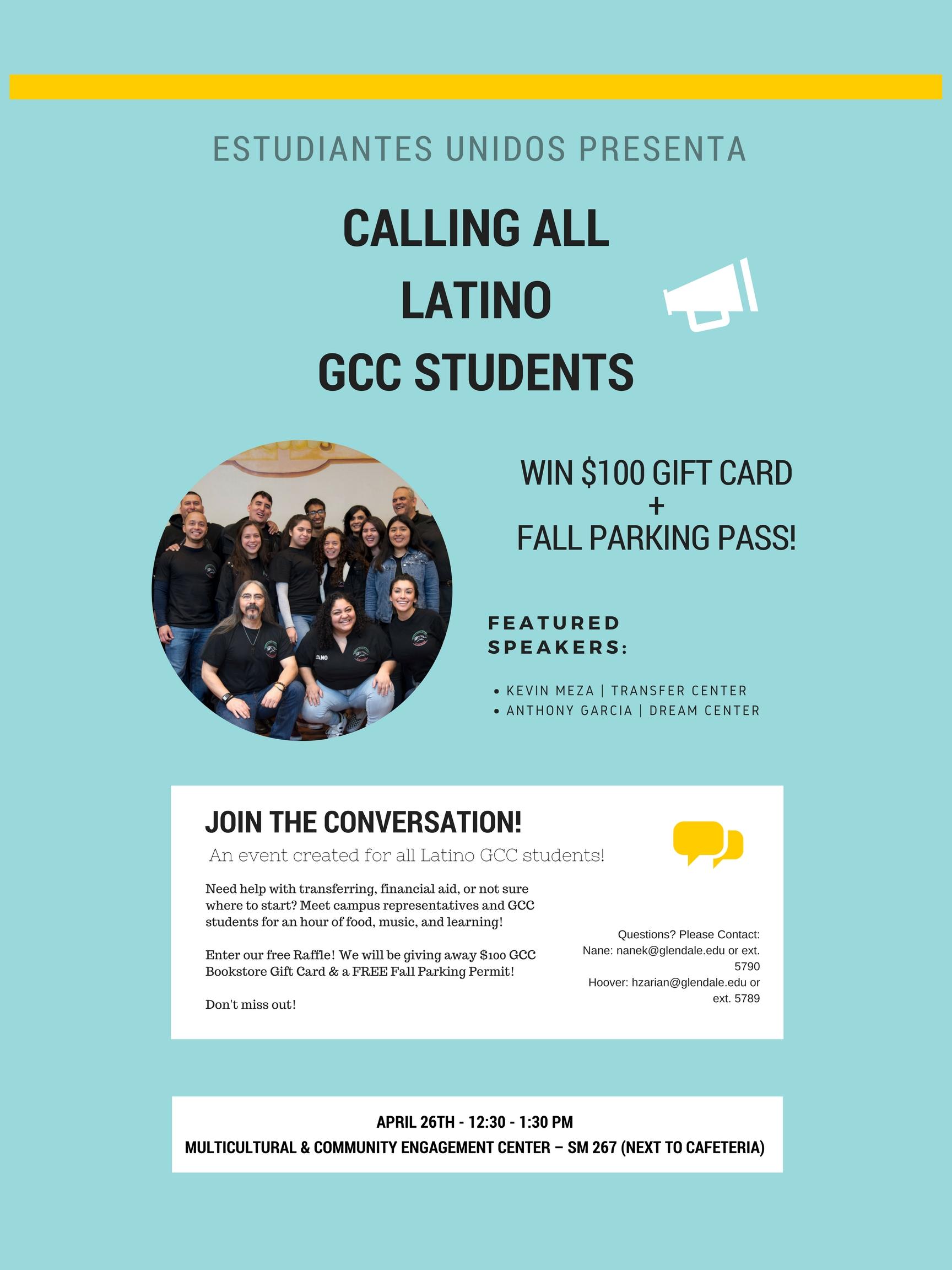 Estudiantes Unidos Presenta | GCC Calendar - All events