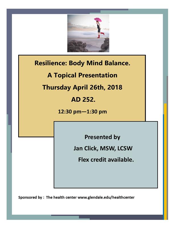 Resilience: Body Mind Balance | GCC Calendar - All events