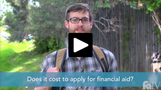 Does it cost to apply for financial aid?