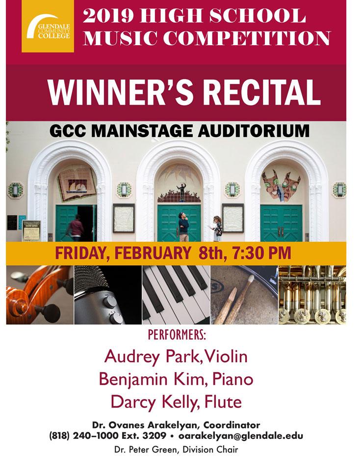 Gcc Calendar 2019 2019 GCC Music Competition Winner's Recital   Free Admission | GCC