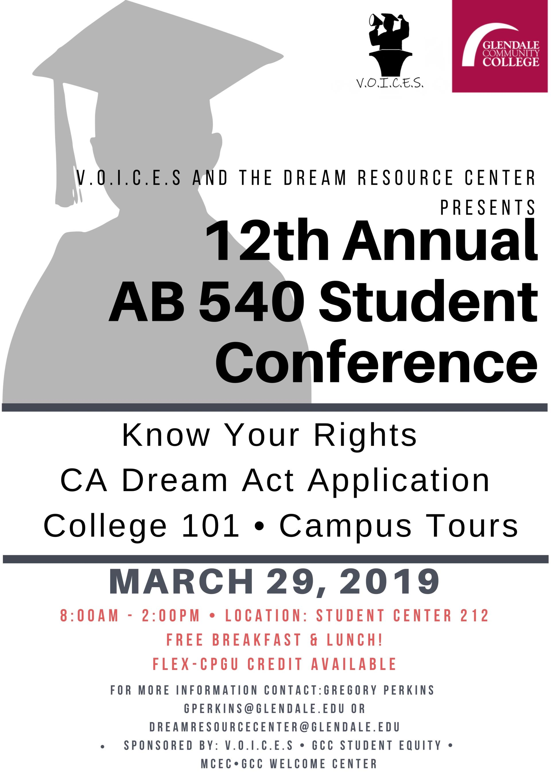 Gcc Calendar.12th Annual Ab 540 Student Conference Gcc Calendar All Events