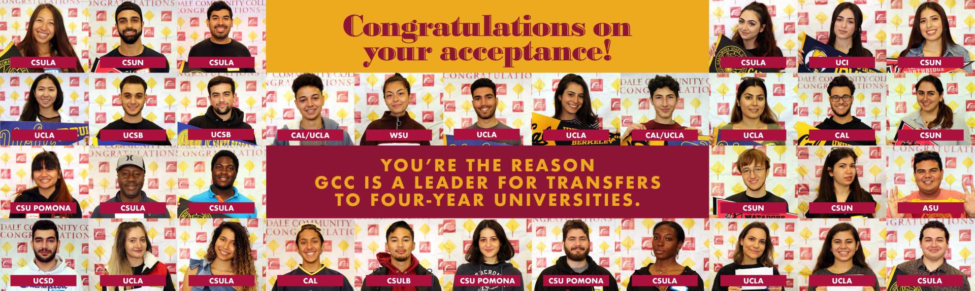 Congratulations on your acceptance Transfer Students!