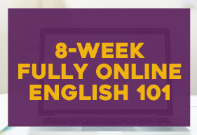 8-week fully online English 101