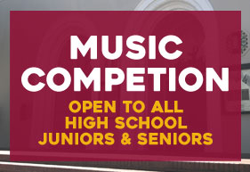 Music competition open to all high school juniors and seniors